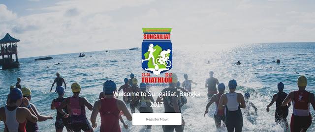Kejuaraan Triahtlon di Sungailiat Bangka