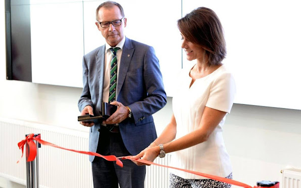 Princess Marie of Denmark attended the official opening of the Tonder Campus (VUC Syd)