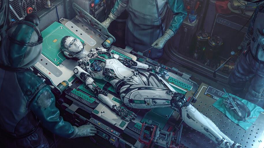 Cyberpunk, Robot, Girl, 4K, #6.2198