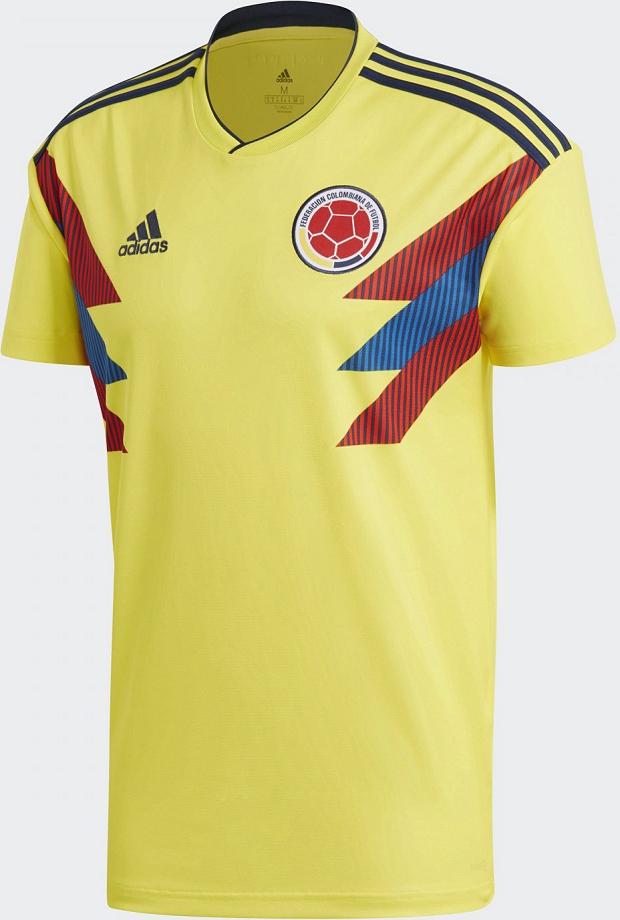 dc994410d2b1b Adidas divulga a camisa titular da Colômbia para a Copa do Mundo ...