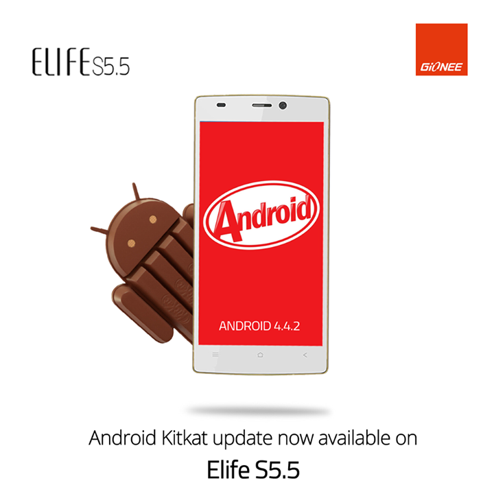 Gionee Elife S5.5 Android 4.4 KitKat software update