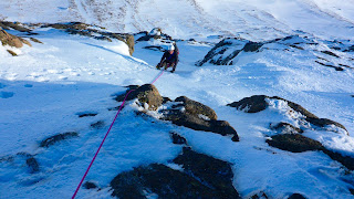 Guided winter climbing on Cairngorm's Central Couloir Direct
