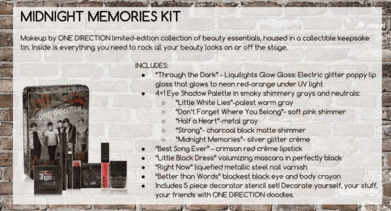 A Sneak Peek Into One Directions New Makeup Line; Midnight Memories Kit, By Barbie's Beauty Bits