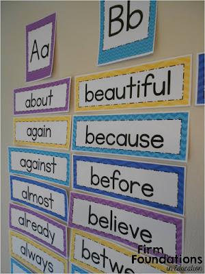Upper Elementary Word Wall
