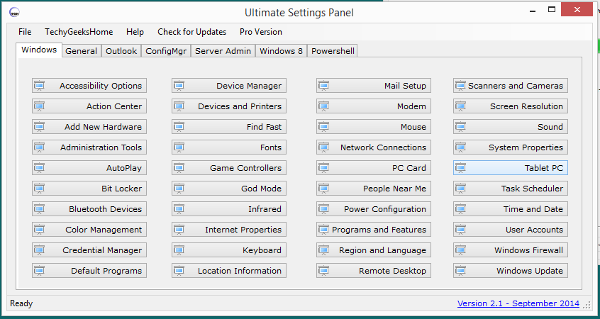Ultimate Settings Panel version 2.1 Released 1