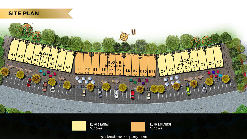 Site Plan Ruko Golden Stone Serpong