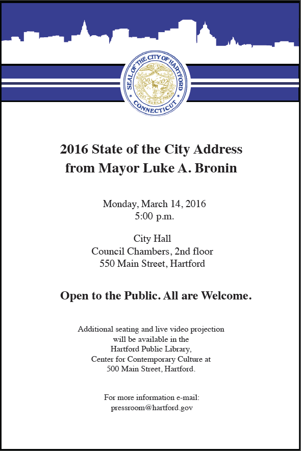 """""""WE THE PEOPLE"""": STATE OF THE CITY MONDAY NIGHT"""