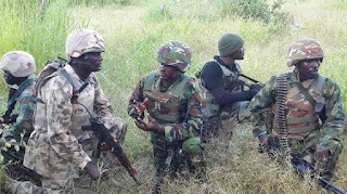 Nigerian Army fight Boko Haram in Sambisa forest