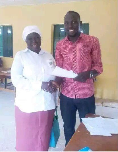 Check out the aged woman who is a secondary school student in Kaduna
