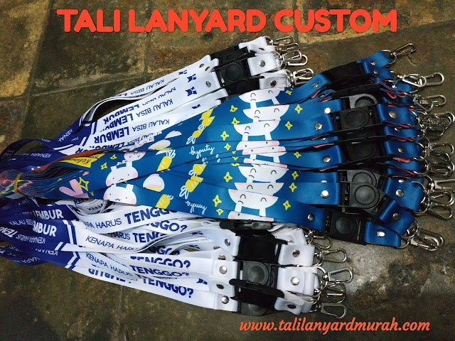 Tali lanyard digital printing custom & produksi tali ID card printing murah Jakarta