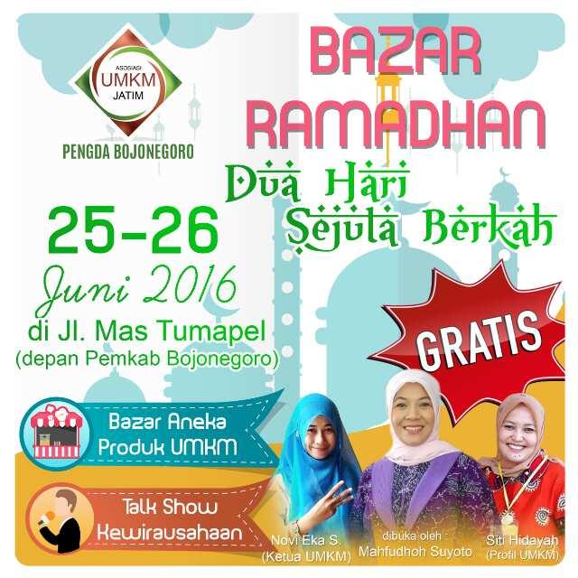 Bazar Ramadhan UMKM Bojonegoro Sabtu Minggu 25 - 26 Juni di Alun Alun Bojonegoro