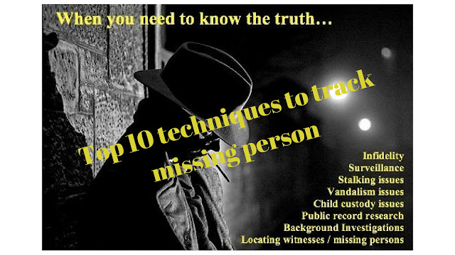 Top 5 techniques of Missing person Tracking