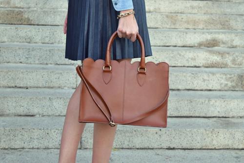 scalloped work bag