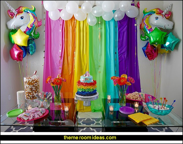 Rainbow Unicorn Balloons Party Supplies
