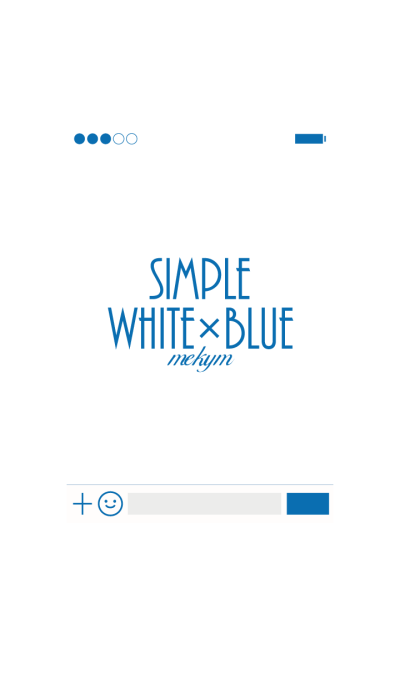 Simple[White+Blue]