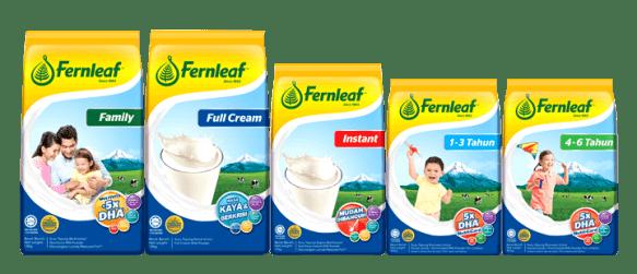 kebaikan Susu fernleaf untuk seisi keluarga