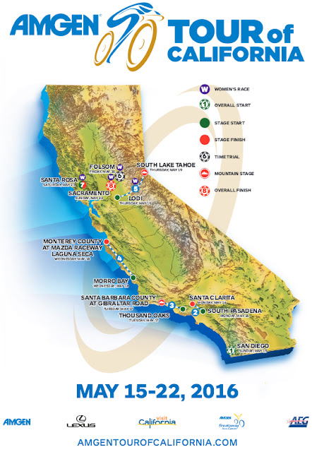 Tour of California route map 2016