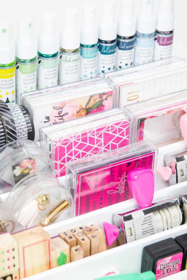 How to organize planner supplies by @createoften