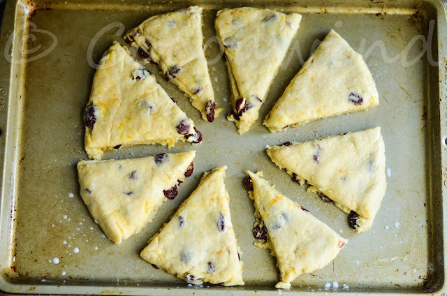 Orange and Cranberry Buttermilk Scones - Cocoawind