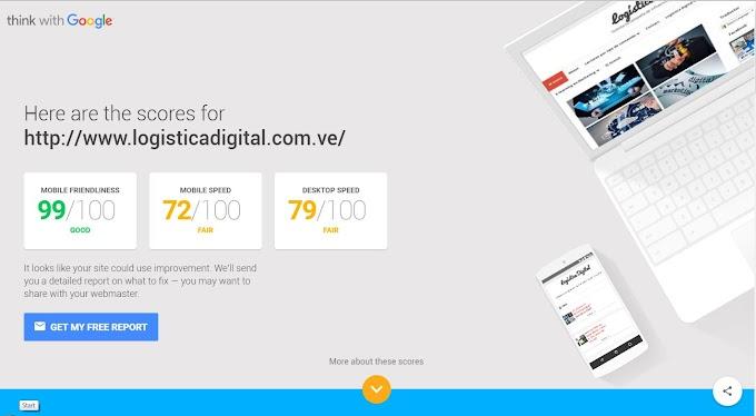 Google lanza herramienta para probar  la velocidad de su sitio web en el móvil y desktop