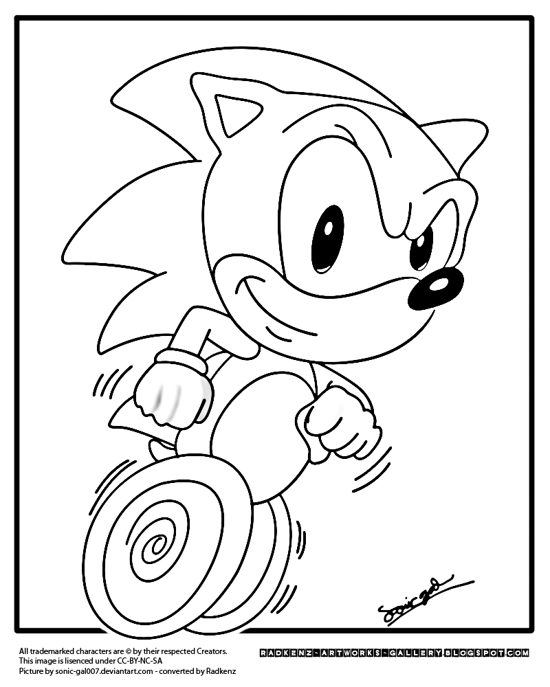 Sonic Running Coloring Pages Coloring Pages