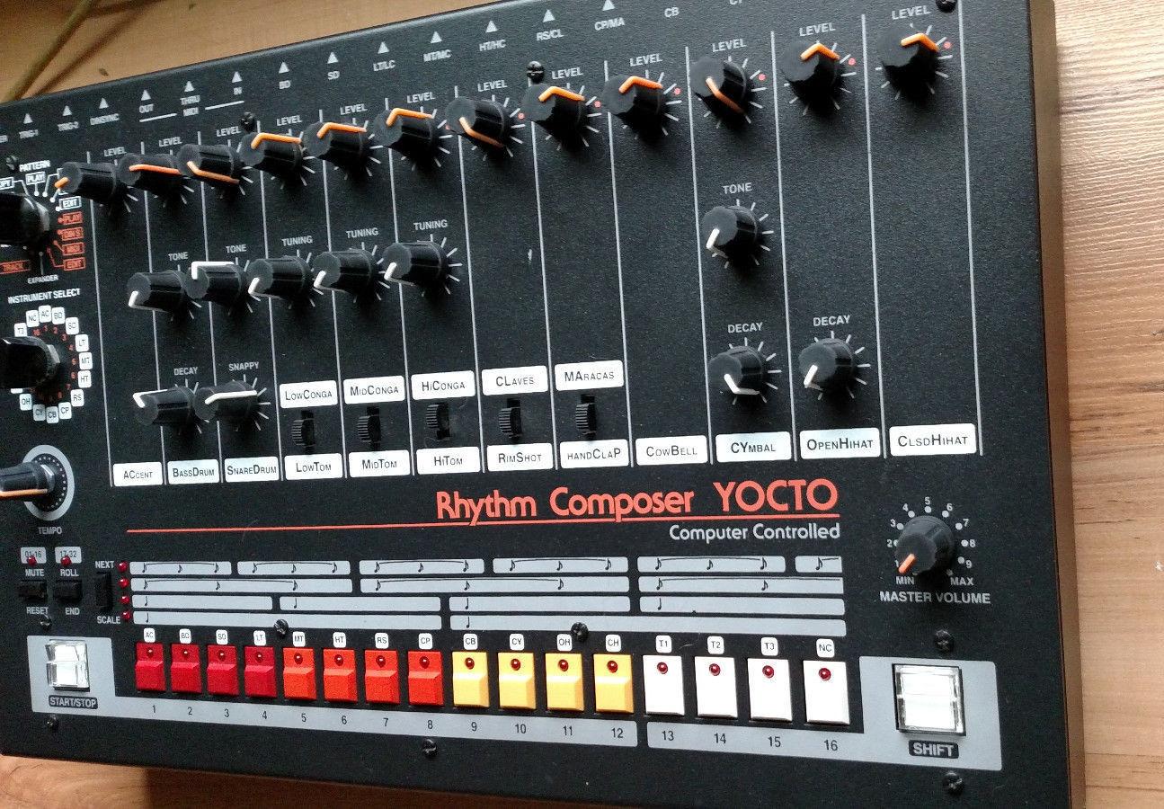 matrixsynth yocto drum machine roland tr 808 clone. Black Bedroom Furniture Sets. Home Design Ideas