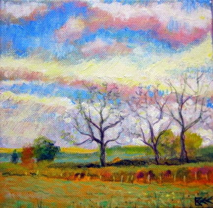 autumn landscape painting, landscape on canvas, big sky painting, acrylic on canvas, art for sale,