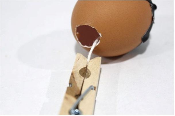 yumurtadan mum nasıl yapılır