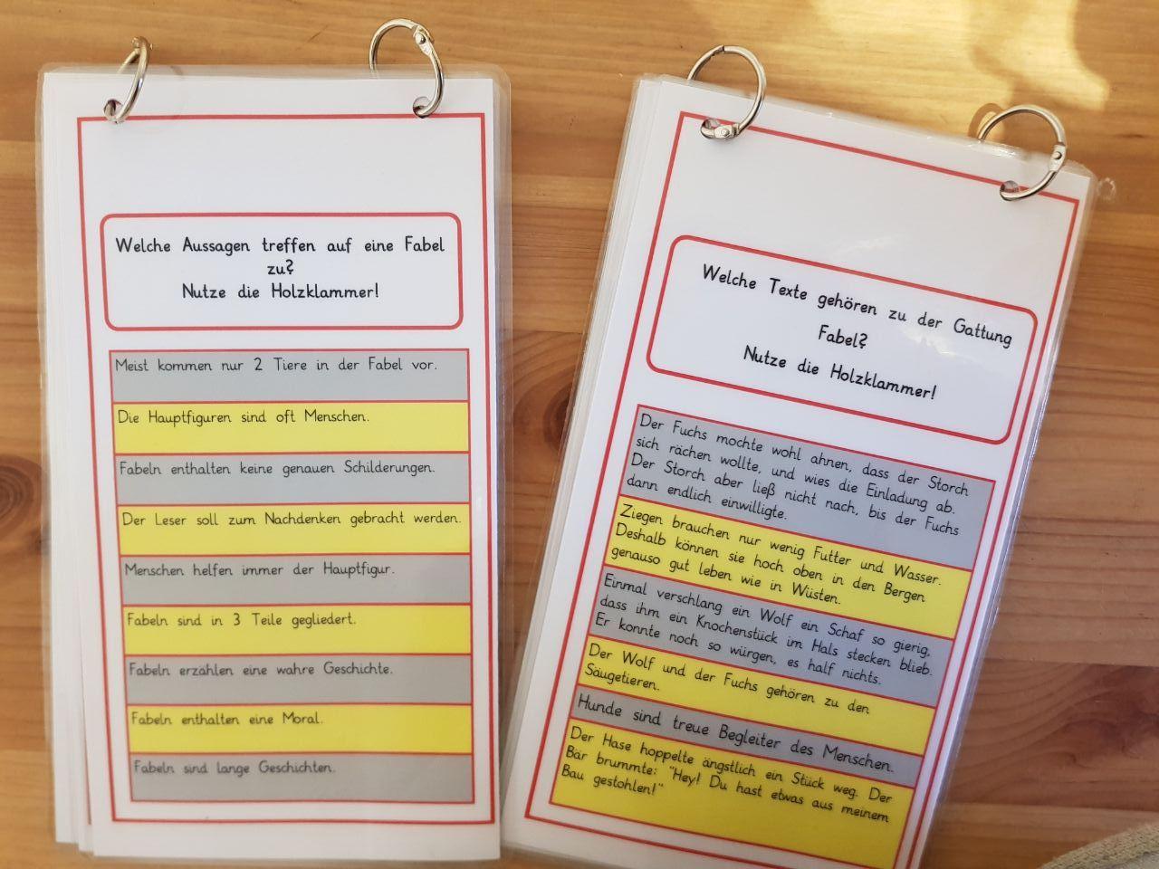 Unterrichtsmaterialien für die Grundschule: Fabeln im Deutschunterricht