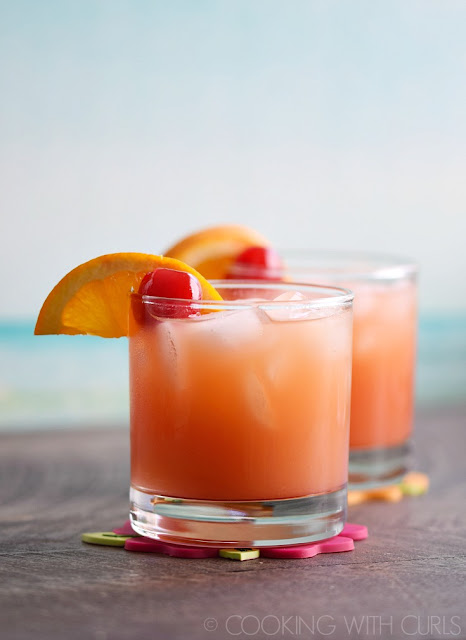caribbean rum punch cocktail recipe