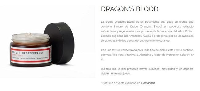 Dragon's Blood, crema de Mercadona - Beauté Mediterranea