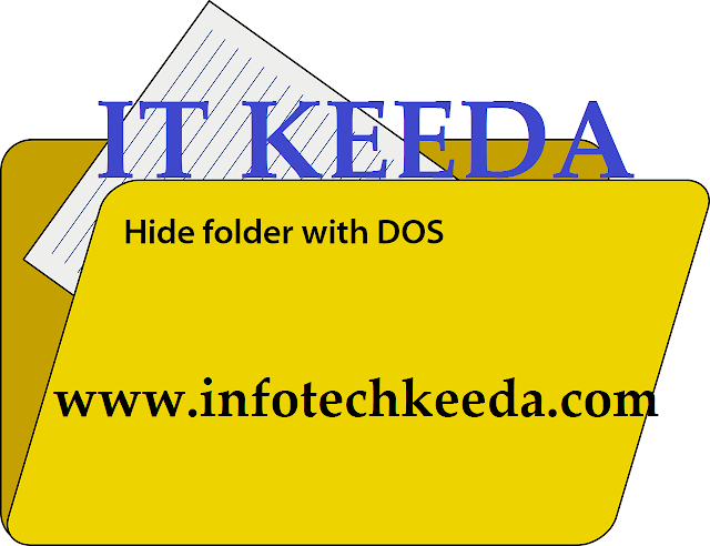 How to hides file or folder using DOS | Trick 1