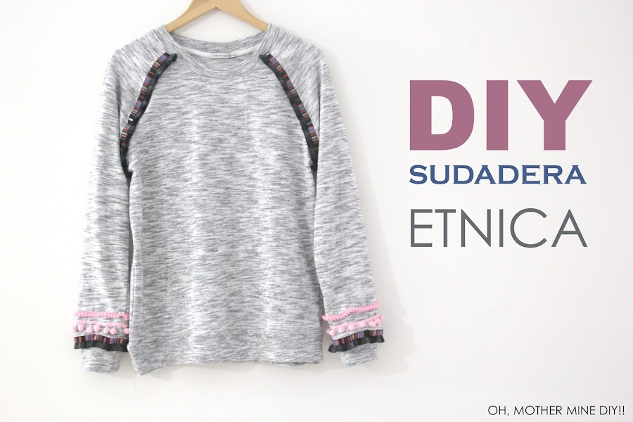 DIY ropa sudadera etnica