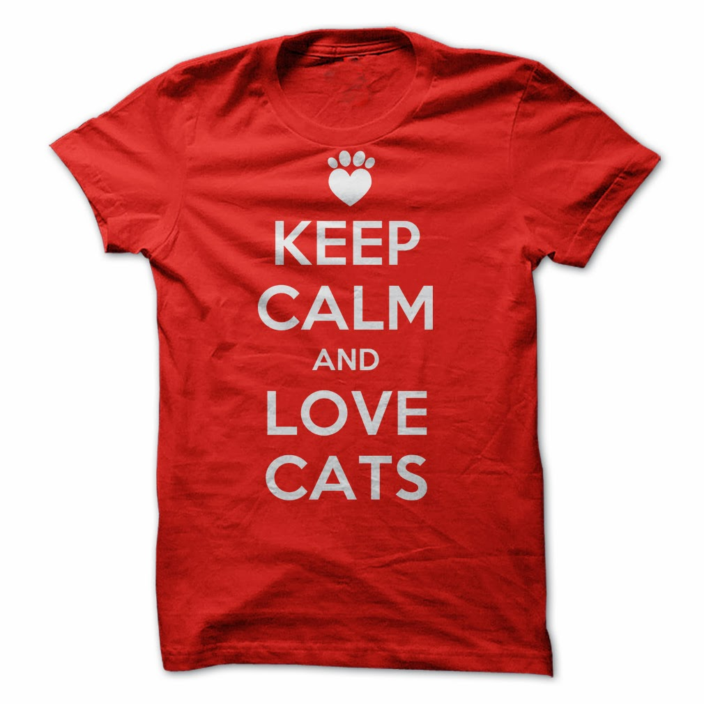 Keep Calm and Love Cats - SunFrogShirts.com t-shirt giveaway