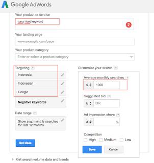 cara riset keyword menggunakan google adwords keyword planner