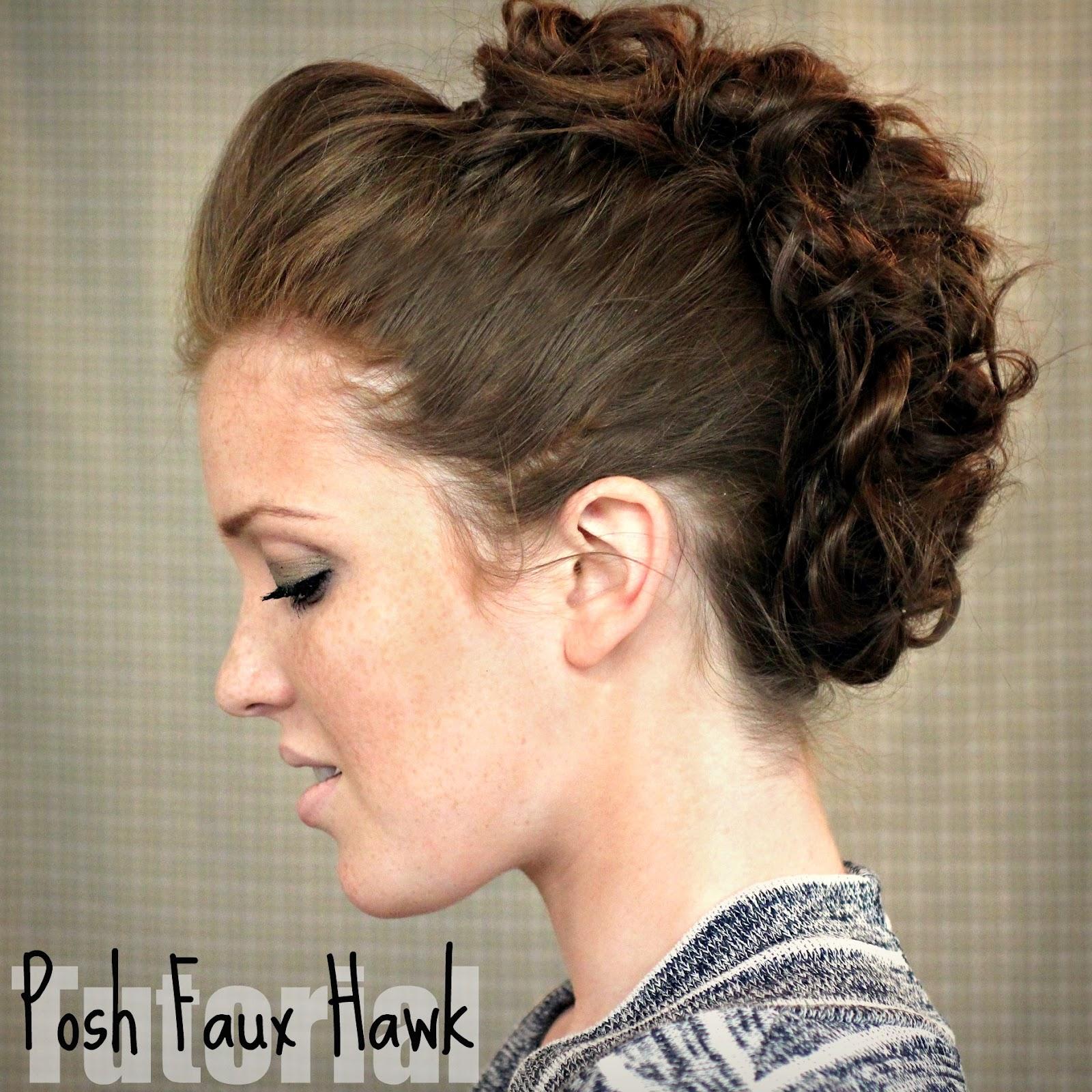 the freckled fox: hair tutorial // posh faux hawk