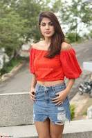 Rhea Chakraborty in Red Crop Top and Denim Shorts Spicy Pics ~  Exclusive 312.JPG