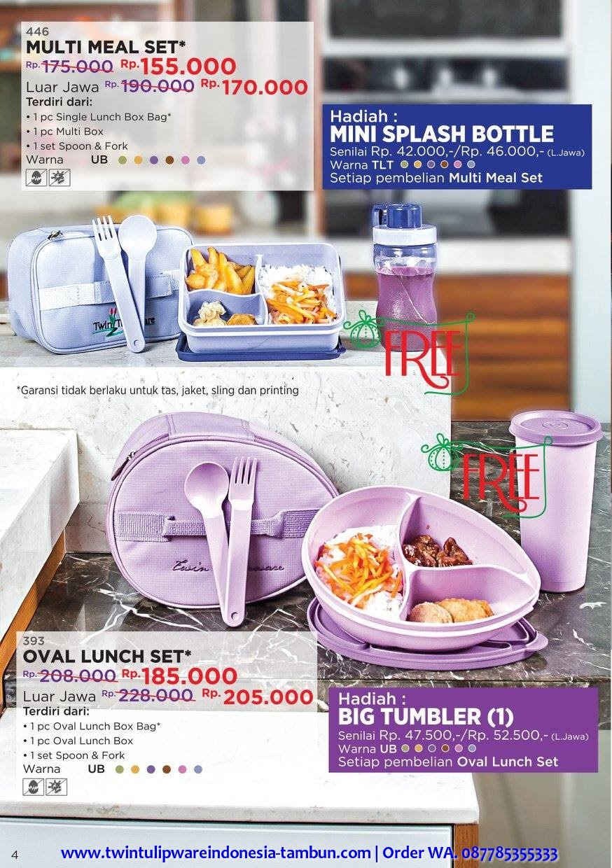 Promo Diskon Multi Meal Set, Oval Lunch Set Desember 2017