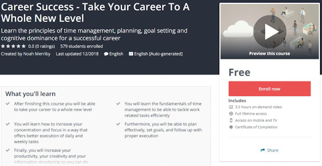 [100% Free] Career Success - Take Your Career To A Whole New Level