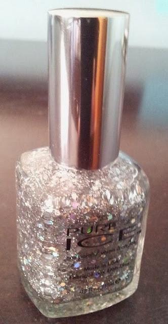 pure ice silver glitter nail polish