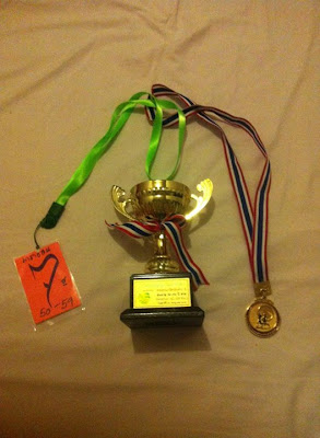Koh Phangan Full Moon marathon trophy and medal