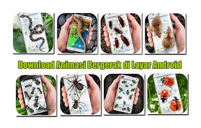 Download Aplikasi Animasi Bergerak di Layar Android (Ular, Semut, Kecoak)