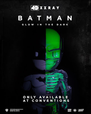Convention Exclusive Batman 4D XXRAY GID Edition Dissected Vinyl Figure by Jason Freeny x Mighty Jaxx