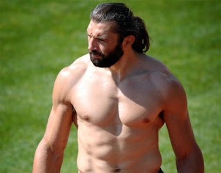 sebastien chabal french rugby player shirtless muscles