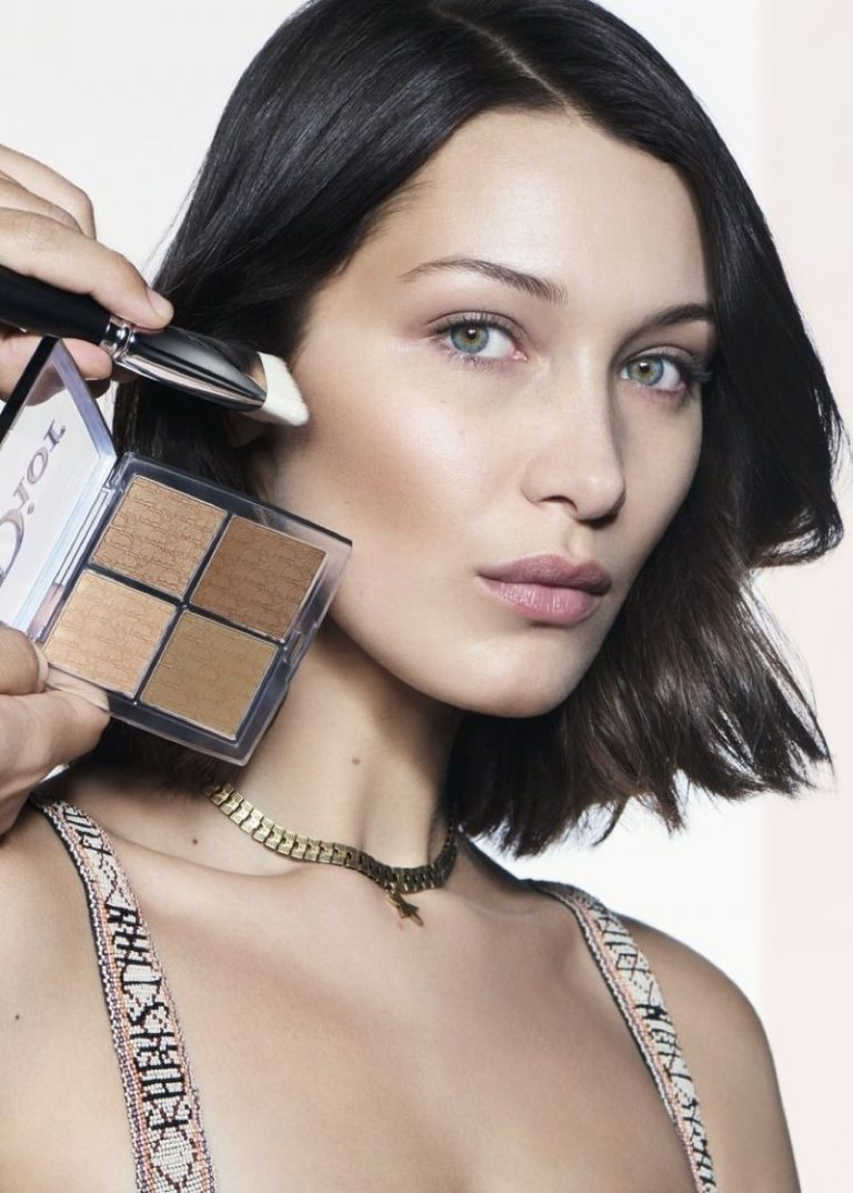 Bella Hadid for Dior Backstage Makeup