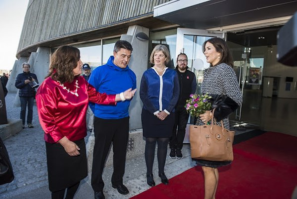 Crown Princess met with members of Children's Council and Blue Cross, and Domestic violence - a shared responsibility conference, Princess Mary wore Jesper Hovring Coat - Fall-Winter 2016-2017