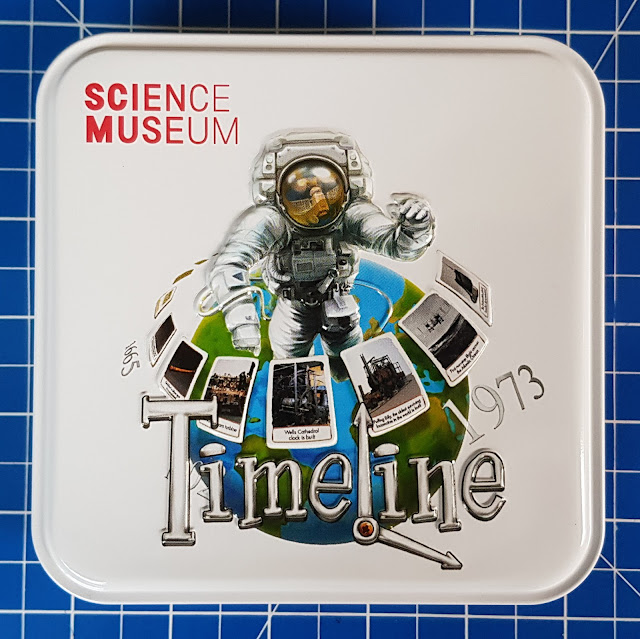 Science Museum Timeline Family Game in attractive metal tin