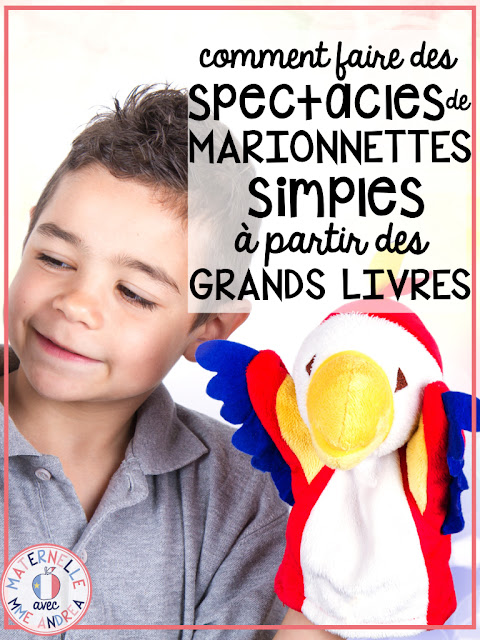 Looking for a fun way to get your French primary students speaking more, and to help them understand what they read? Check out this blog post for instructions and ideas for creating EASY puppet shows with your students to go with your shared reading books!