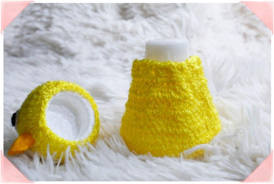 Salero de pollito a crochet