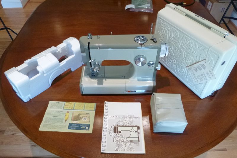 Tempted Threads Vintage Kenmore 4040 Restored Interesting How To Thread A Vintage Kenmore Sewing Machine
